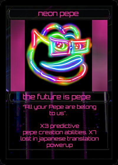 neon pepe - the future is pepe